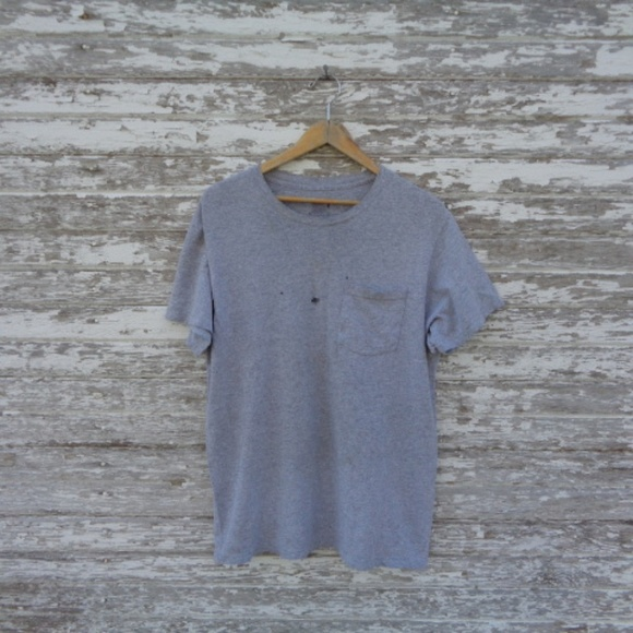 Other - No. 189 Distressed Gray Tee Size large